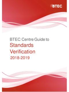 BTEC Centre Guide to Standards Verification