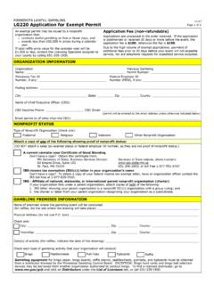 LG220 Application for Exempt Permit - Minnesota