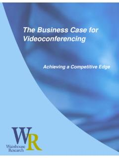 WR Paper: The Business Case for Videoconferencing