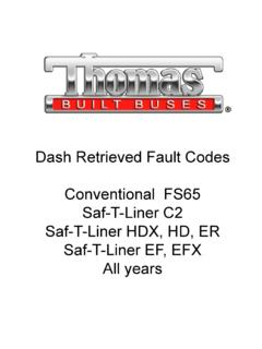 Dash Retrieved Fault Codes Saf-T-Liner C2 Saf-T …