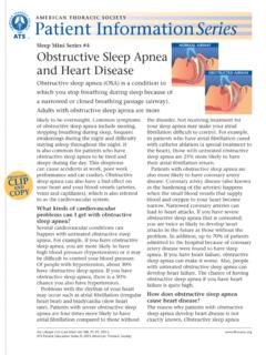 Sleep Mini Series #4 NORMAL AIRWAY Obstructive …