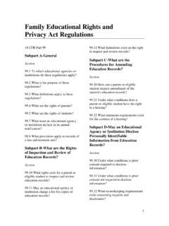 Family Educational Rights and Privacy Act Regulations (PDF)