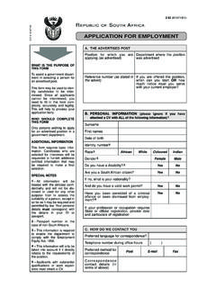 Application for Employment - Z83