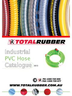 Industrial PVC Hose Catalogue - Rubber Hose, PVC Hose ...