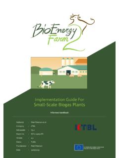 Implementation Guide For Small-Scale Biogas Plants