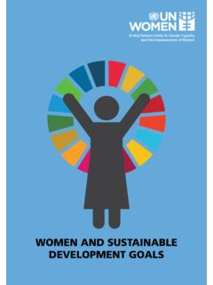 WOMEN AND SUSTAINABLE DEVELOPMENT GOALS