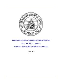 Federal Rules of Appellate Procedure, Ninth Circuit Rules ...