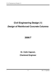 Design of Reinforced Concrete Columns - Colin Caprani