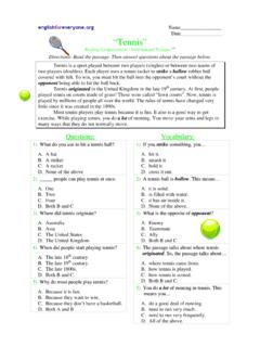 Informational Passages RC - Tennis - …