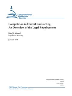 Competition in Federal Contracting: An Overview of the ...