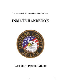 INMATE HANDBOOK - Daviess County Detention Center