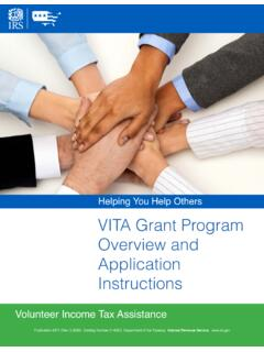 VITA Grant Program Overview and Application Instructions