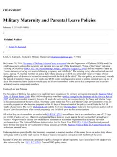 Military Maternity and Parental Leave Policies