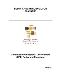 SOUTH AFRICAN COUNCIL FOR PLANNERS - sacplan.org.za