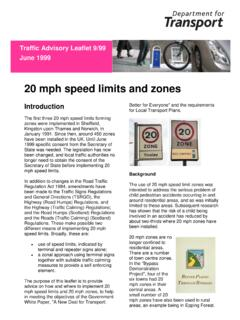 20 mph speed limits and zones - UK Roads Ltd