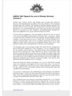ANZAC DAY Speech for use in Primary Schools v5 - ictbin