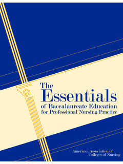 The Essentials of Baccalaureate Education - LSU Health …