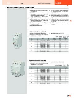 RESIDUAL CURRENT CIRCUIT BREAKERS LFN - OEZ