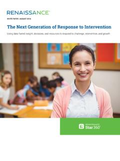The Next Generation of Response to Intervention