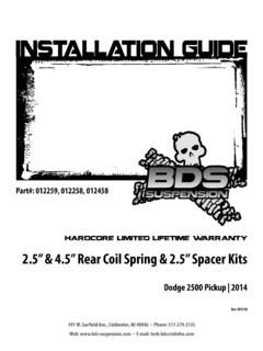 "2.5"" & 4.5"" Rear Coil Spring & 2.5"" Spacer Kits"