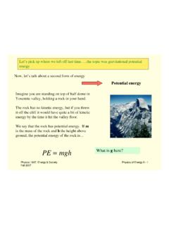 Potential energy - UMass