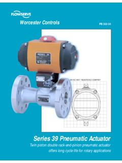 Series 39 Pneumatic Actuator - Cryogenics Experts, Inc.