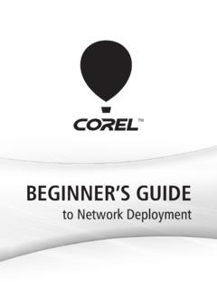 Corel(R) Beginner's Guide to Network Deployment