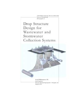 Drop Structure Design for Wastewater and Stormwater ...