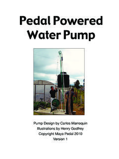 Pedal Powered Water Pump