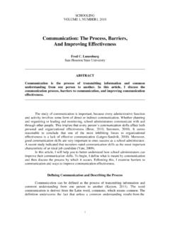 Communication: The Process, Barriers, And Improving ...