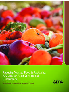 Reducing Food Waste Packaging - epa.gov