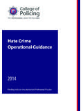 Hate Crime Operational Guidance - True Vision