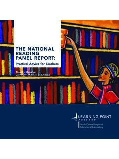 THE NATIONAL READING PANEL REPORT
