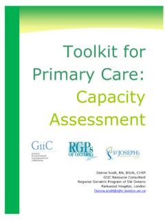 Toolkit for Primary Care: Capacity Assessment