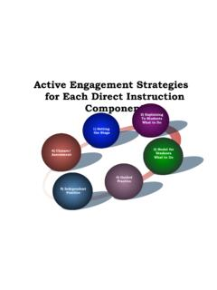 Active Engagement Strategies with Instruction Components