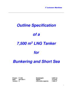 Outline Specification of a 7,500 m3 LNG Tanker for ...
