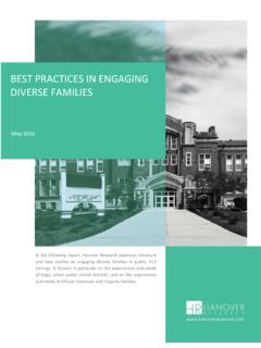 BEST PRACTICES IN ENGAGING DIVERSE FAMILIES
