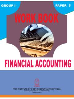 WORK BOOK FINANCIAL ACCOUNTING - icmai.in