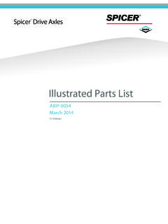 Illustrated Parts List