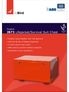 Firebird JB73 Lifejacket/Survival Suit Chest