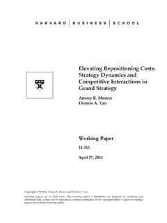 Elevating Repositioning Costs: Strategy Dynamics …