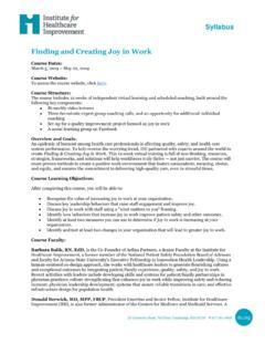 Syllabus Finding and Creating Joy in Work - forms.ihi.org