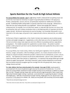 Sports Nutrition for the Youth & High School Athlete