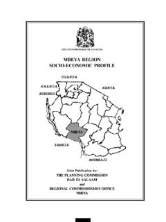 MBEYA REGION SOCIO-ECONOMIC PROFILE - …