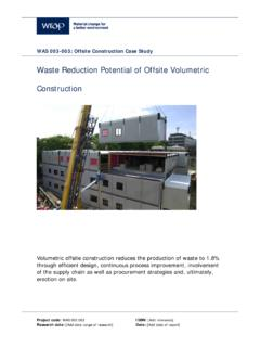 Waste Reduction Potential of Offsite Volumetric …