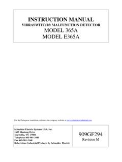 VIBRASWITCH MALFUNCTION DETECTOR MODEL …