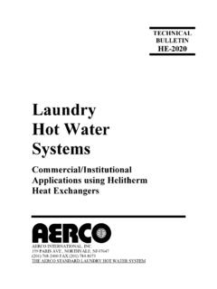 Laundry Hot Water Systems - AERCO