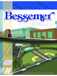 Est. 1922 A CITY ON THE MOVE - Bessemer