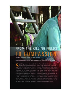 FROM THE KILLING FIELDS TO COMPASSION