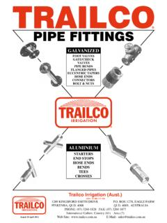PIPE FITTINGS - Trailco